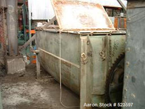 """USED: Young ribbon blender, approximately 100 cubic foot working capacity, stainless steel double ribbon mixer. 48"""" wide x 4..."""