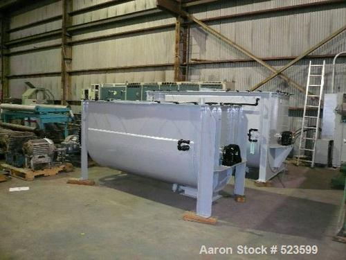 """USED: Young ribbon blender, approximately 100 cubic foot workingcapacity stainless steel double ribbon mixer. 48"""" wide x 48""""..."""