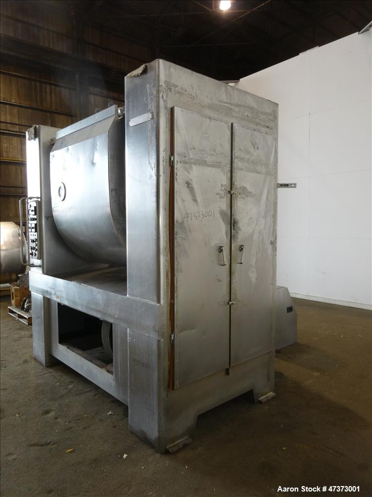 Used- Oshikiri Horizontal Mixer, Model HM1300F, 304 Stainless Steel.