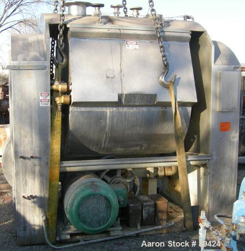 USED: Bakers Equipment / Winkler single arm mixer, approximately 2400 pounds (395 gallons) mixing capacity, 304 stainless st...