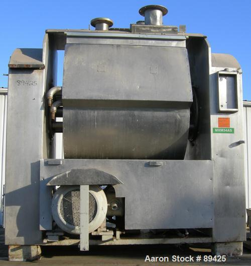 USED: Bakers Equipment / Winkler single arm mixer, approximate 2400 pound (395 gallon) mixing capacity, 304 stainless steel....