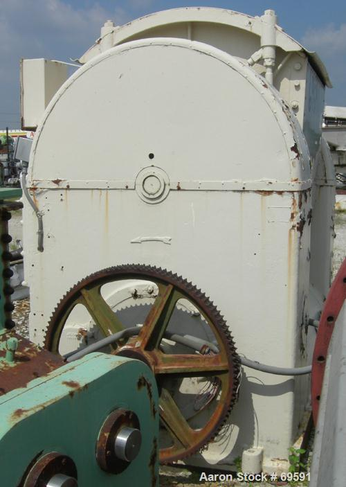 Used- Champion Single Arm Slow Speed Rotary Mixer. Approximate 300 gallon capacity, mixing capacity approximately 1200 lbs. ...