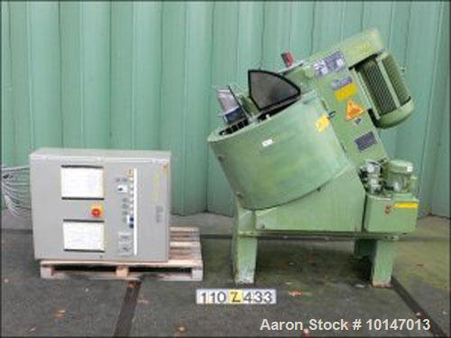 Used-Gustav Eirich Powder Turbo Mixer, Type R-08. 304 stainless steel (1.4541), useful capacity 20 gallon/154 lbs (75 liter/...