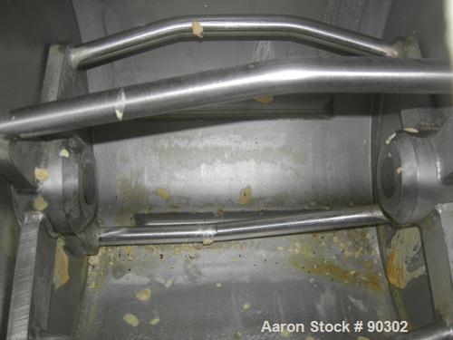 USED- Magna High Speed Single Arm Mixer, Model 50H-4C1. Approximate 10 gallon/50 pound working capacity, 304 stainless steel...