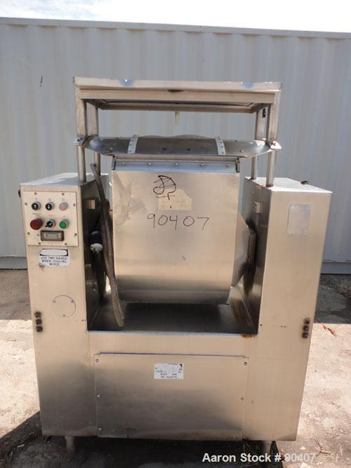 Used- Stainless Steel Magna High Speed Single Arm Mixer, Model 50H-4C1. Approximate 10 gallon/50 pound working capcity