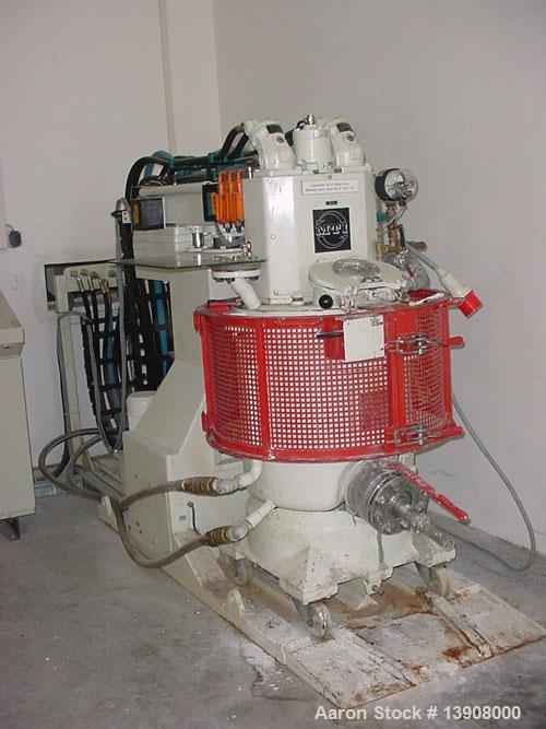 Used-MTI paste mixer, type P-Z9-100/ADD. Vertical heating and cooling mixer combination, capacity 26 gallons (100 liters), j...
