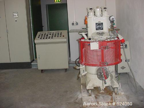 USED: MTI paste mixer, type P-Z29-100/ADD. Vertical heating/coolingmixer combination, capacity 26 gallon (100 liters), jacke...