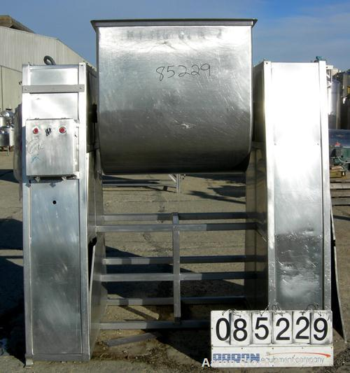 Used- Stainless Steel Single Arm Mixer, 200 Gallon,