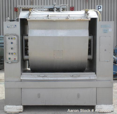 Used- Peerless Single Arm Dough Mixer, Model 9SD, 304 Stainless Steel. Approximate 2800 pound dough capacity (55.6 cubic fee...