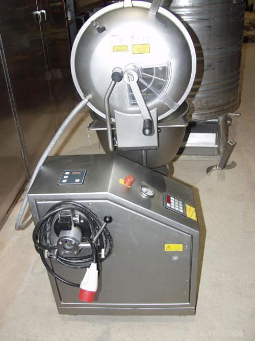 Used-Stephan UM/VM 44 S Universal Vacuum Mixer/Cutter. Stainless steel, capacity 12 gallons (45 liters), mixing speeds 1500 ...