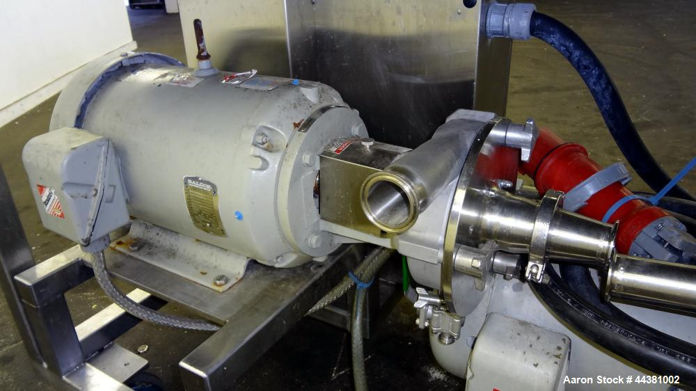 Used- Fristam Model 20-53 Powder Mixing System. Induction rate powders: 160-220 pounds per minute. Induction rate thickeners...