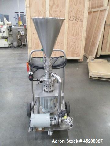 "Used- Tri-Clover Tri-Blender, Model F2116-EZ-SYS. Stainless steel construction, approximately 4.5"" diameter x 1.5"" high 3 bl..."