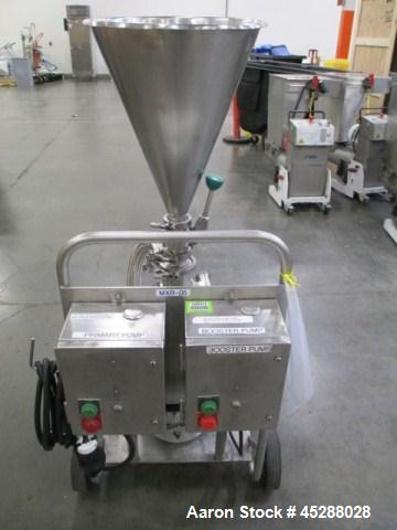 """Used- Tri-Clover Tri-Blender, Model F2116-EZ-SYS. Stainless steel construction, approximately 4.5"""" diameter x 1.5"""" high 3 bl..."""