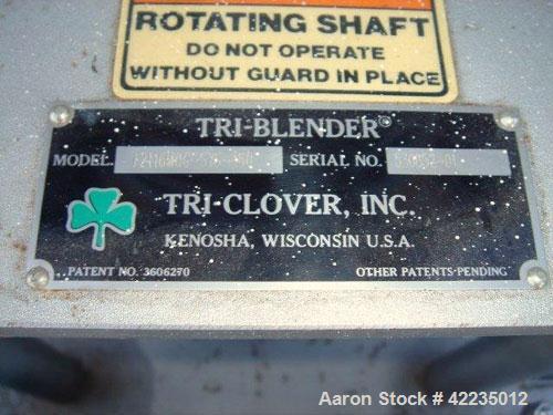"Used- Tri-Clover Tri-Blender, Model F2116MDG-SYS-460, Stainless Steel. 4-1/2"" diameter x 1-1/2"" high 3 blade impeller. Drive..."