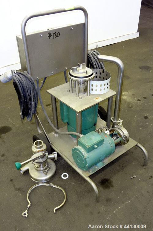 Used-Tri-Clover Tri-Blender, Model F2116MDG-SYS-460, 316 Stainless Steel. Dry ingredient capacity up to 50 pounds per minute...