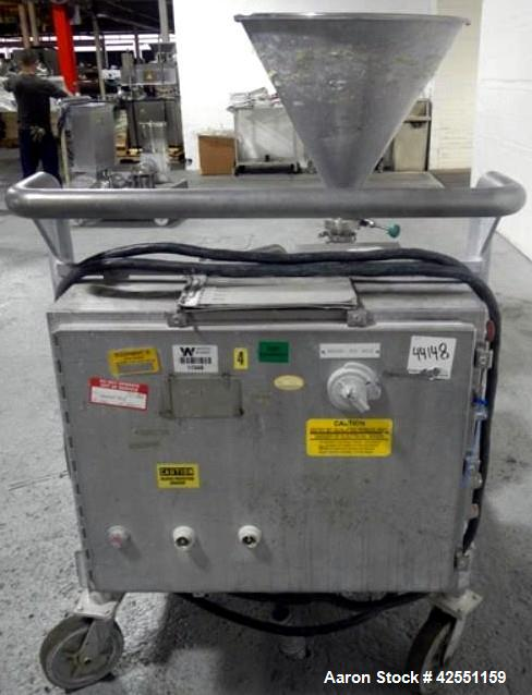 Used- Stainless Steel Tri Clover Tri Blender, model F3218M-2465-1H0-S