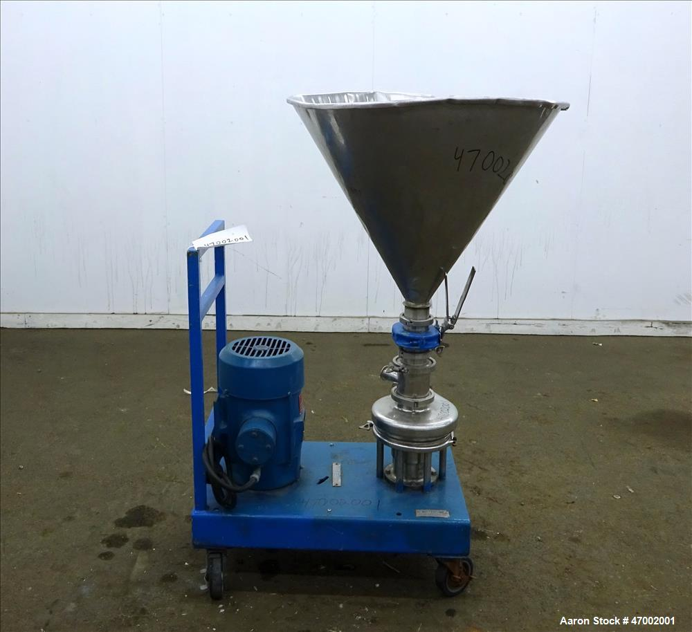 Used- Tri-Clover Tri-Blender, Model F3218MD, Stainless Steel.