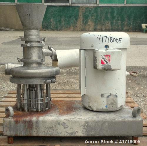 "Used- Tri-Clover Tri-Blender, Model F4329, 316 stainless steel. Approximate 9 1/2'' diameter impeller, 4"" tri-clamp powder i..."