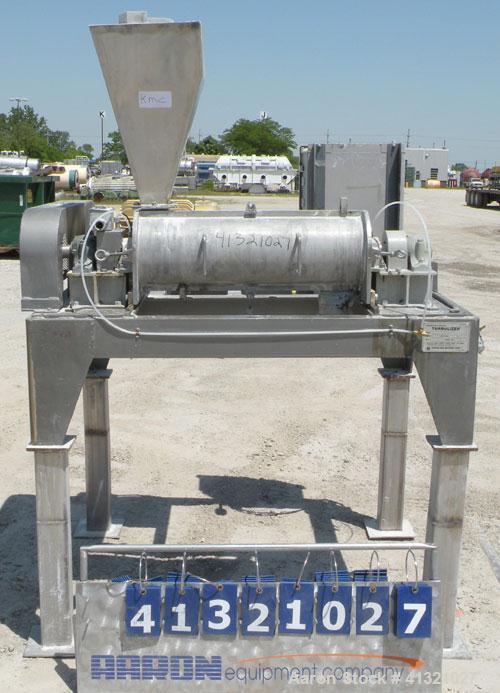 "Used- Hosokawa Micron Turbulizer, Model TCX-8, 304 stainless steel. 8"" diameter x 28"" long non-jacketed clamshell design cha..."