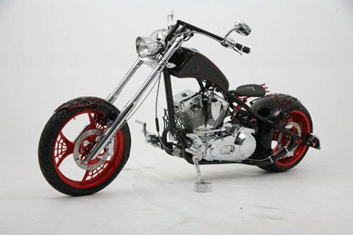 Unused-2007 Orange County Choppers Web Bike.  Engine:  Evolution Big Twin Style 84-89.  Displacement is 100 CID.  S&S polish...