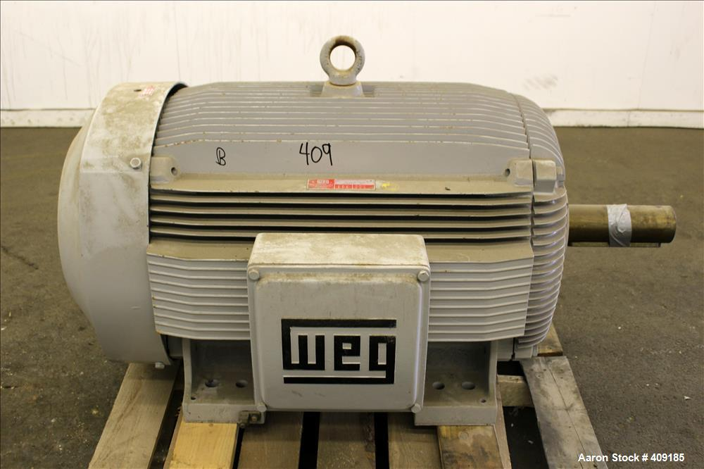Unused- Weg Type ET Induction Motor, Model BL-200-9-586/7T, 200 HP. 3/60/460 volt, 894 RPM. Enclosure type TEFC.
