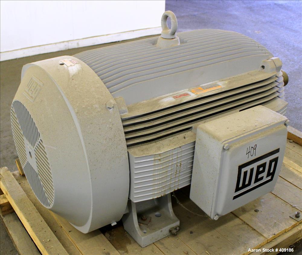 Unused- Weg Type ET Induction Motor, Model BL-400-12-586/7, 400 HP. 3/60/460 volt, 1195 RPM. Enclosure type TEFC.