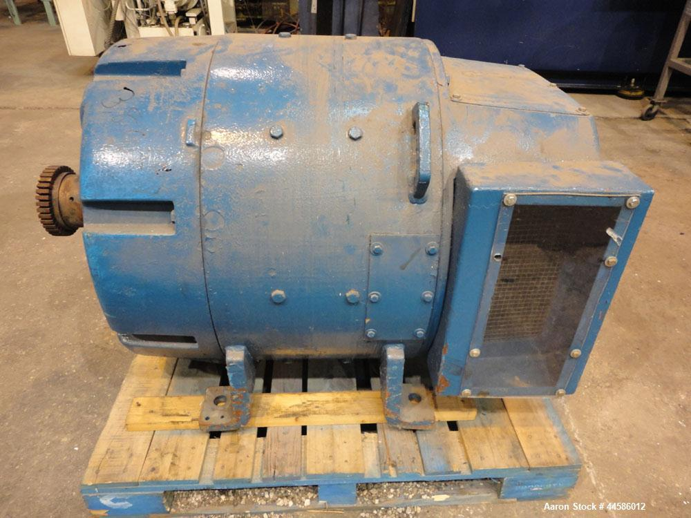 Used- General Electric 300 Hp DC Motor, Model 5CD683E277AC.  300 Hp, 500 volts, 1750 rpm.  Serial #MD-2-49.