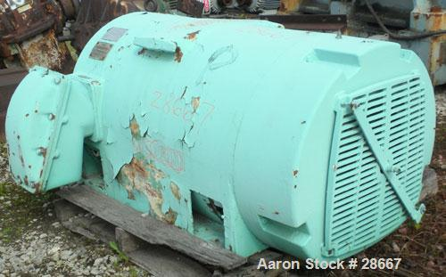 Used- General Electric Custom 8000 Motor, Model 5K811058A10. 200 HP, 3/60/2300 Volt, 1780 RPM. 8110 frame, type K, 45 Amp.
