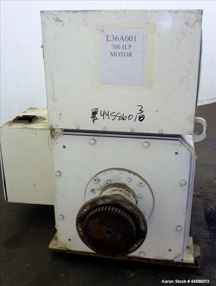Used- General Electric DC Motor, 700 HP, 500 Volt, 1750 RPM. Type CD4465.