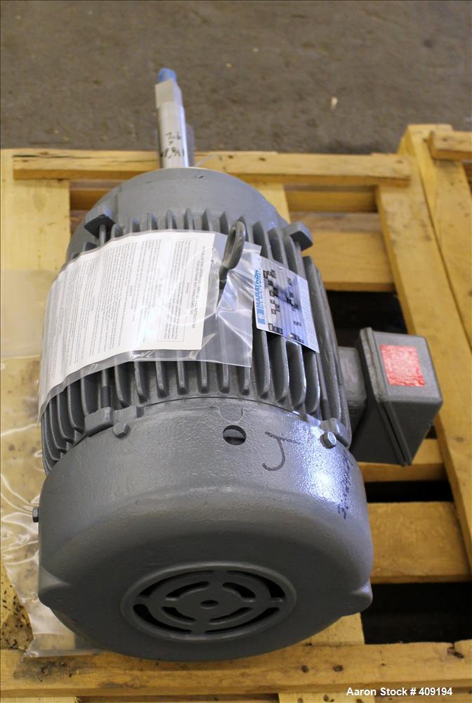 Unused- Marathon Electric AC Motor, Model 3VC 215TTFS8704AN L, 10 HP, Frame 215 TCZ. 3/60/230/460 Volt. 3485 RPM. Enclosure ...