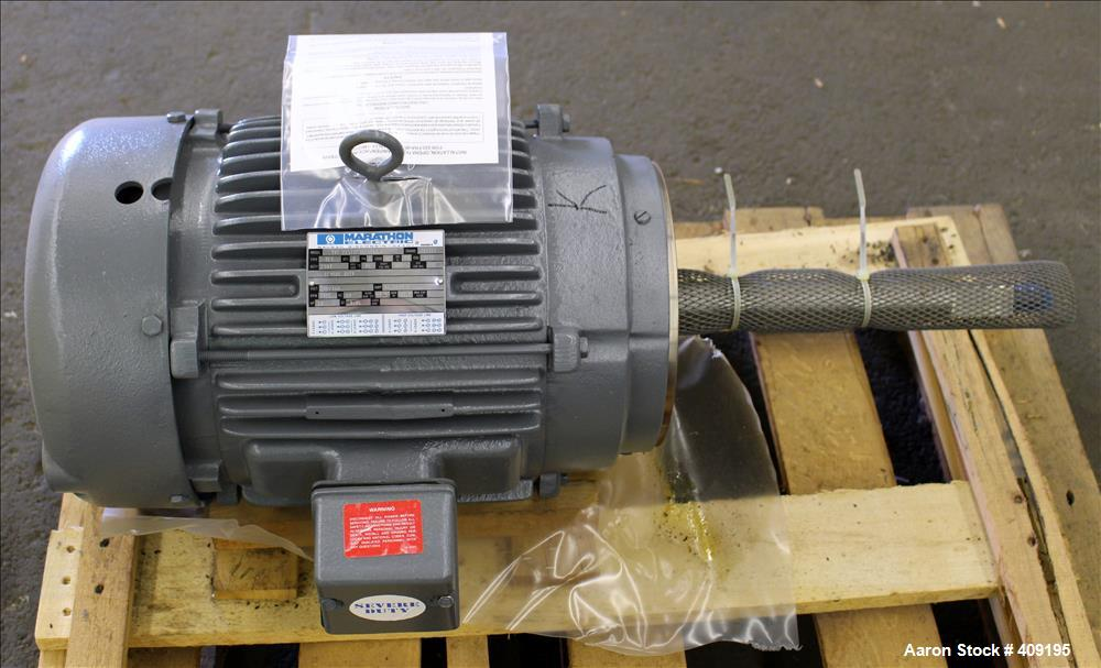 Unused- Marathon Electric AC Motor, Model 3VC 215TTFS8704AN L, 10 HP, Frame 215 TCZ. 3/60/230/460 Volt. 3485 RPM. Enclosure ...