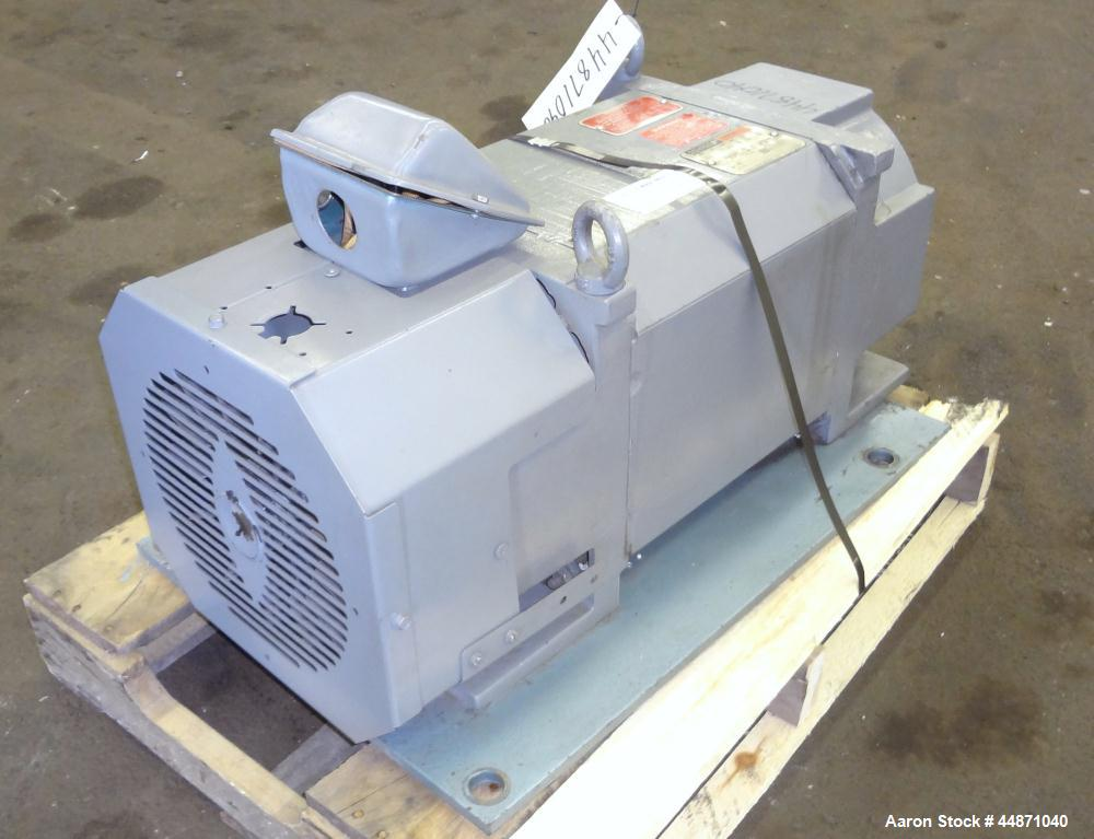 Used- Reliance Electric RPM AC Inverter Duty 40 Hp Motor.  TEFC, design #L1881A, 3 phase, 60/120 hz, 460 volts, 52/46 amps, ...