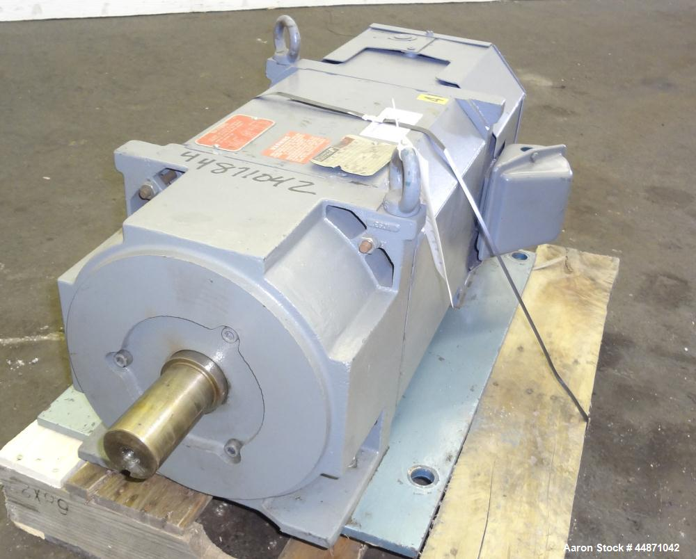 Used- Reliance Electric RPM AC Inverter Duty 40 Hp Motor. TEFC, design #L1881A, 3 phase, 60/120 hz, 460 volts, 52/46 amps, 1...
