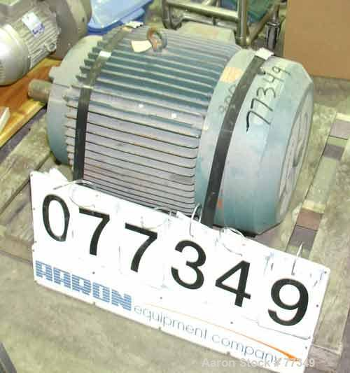 Used- Reliance TEFC Motor, 60 hp, 3/60/460 volt, 1780 rpm, 69.9 amps, continuous duty, service factor 1.15, insul class F, t...