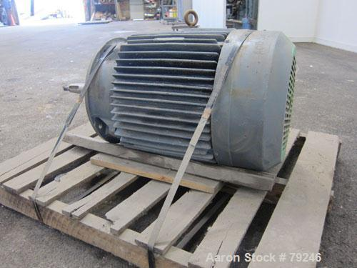 Used- Reliance Motor, 60 HP, 3/60/230/460 Volt, 1775 RPM. Frame size 364TDZ. Explosion proof, Class 1 Group D, Class 2 Group...