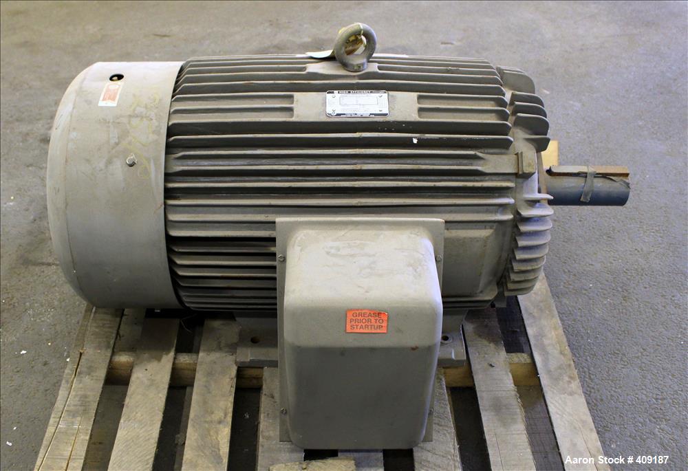 Unused- Toshiba High Efficiency Induction Motor, Model B1256FLF4UE, 125 HP, Frame 445T. 3/60/230/460 Volt. 1175 RPM. Enclosu...
