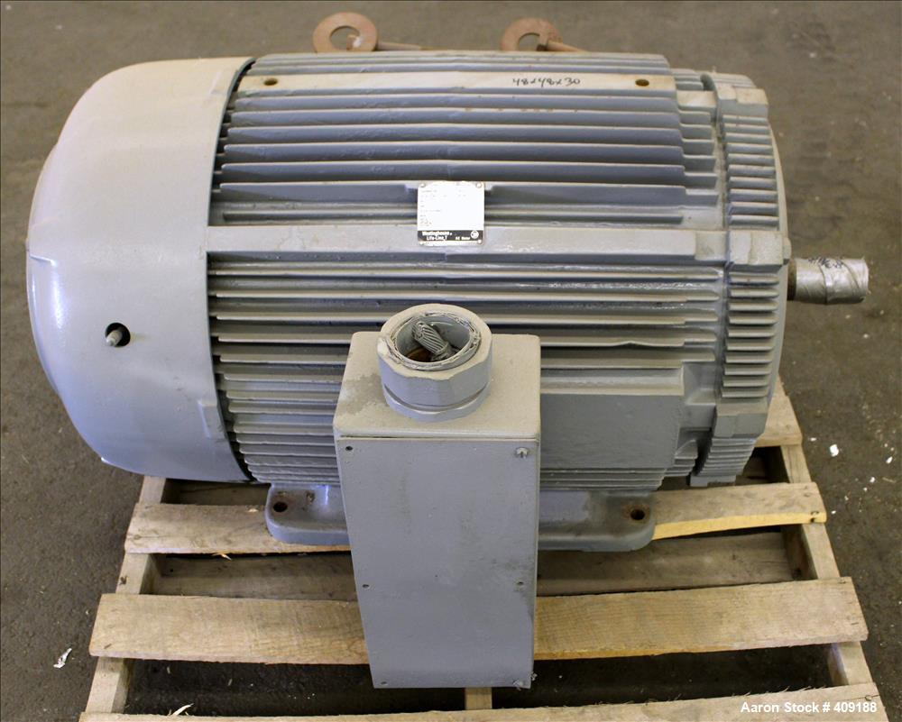 Used- Westinghouse AC Motor, Model TAFC, 200 HP. 3/60/460 Volt. 1780 RPM. Frame type 447TS.