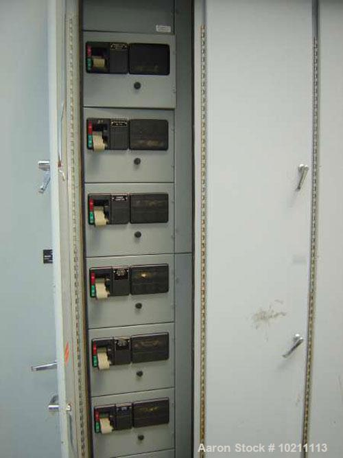 Used-Westinghouse Motor Control Center, Series 2100. 480 volt, 3 phase. Built June 1991. Horizontal buss, 600 amp, neutral 3...