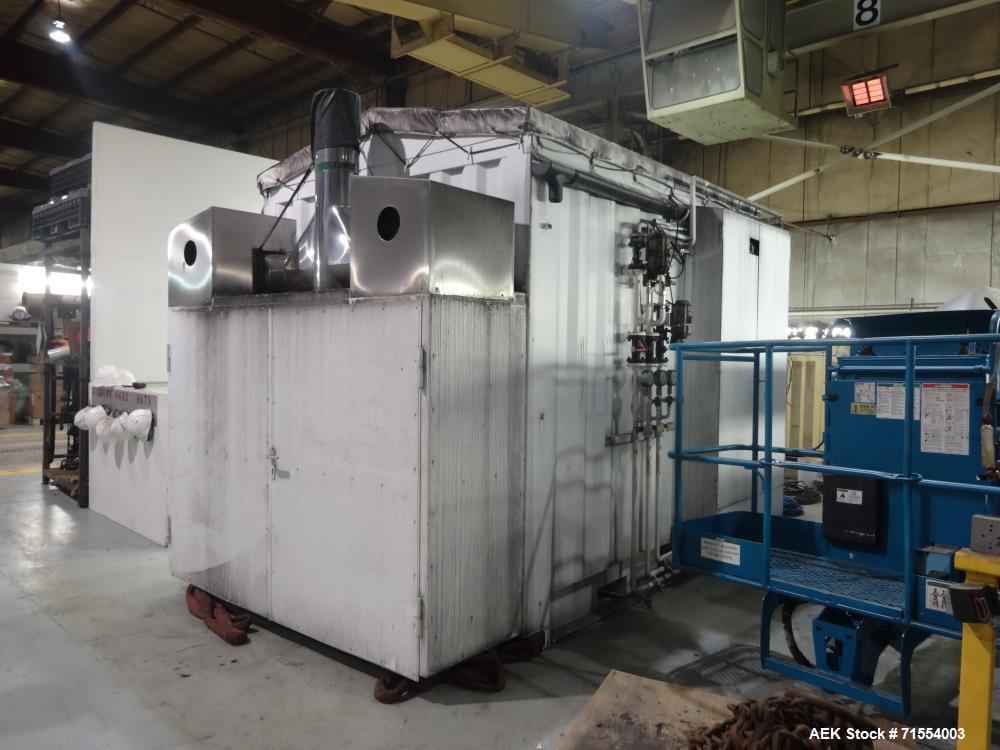 Used- Aerofil Gashouse or Transportable Hydrocarbon Filling Room. Has an Aerofil three head TTV gasser with 200ml fill capac...