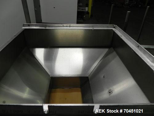 "Used- Haumiller Model Lasta Stainless Steel 6-Pocket Spray Tip Applicator. Single Hammer, 16"" vibratory feeder bowl. Approxi..."