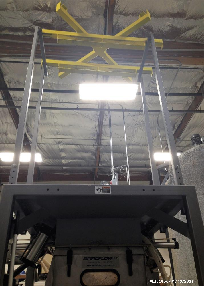 Used- Spiroflow Type 2 Bulk Bag Discharging System with Screw Conveyor, Model SSI-101. Includes: Integral bag dump station, ...