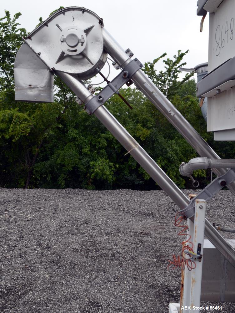 Used- Stainless Steel Spiroflow Systems Mobile Bag Dump/Loading System, Model CO