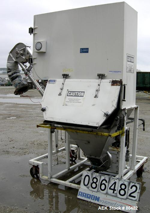 Used- Spiroflow Systems Mobile Bag Dump/Loading System, Model CO-190, 304 Stainless Steel, Consisting Of: (1) bag dump stati...