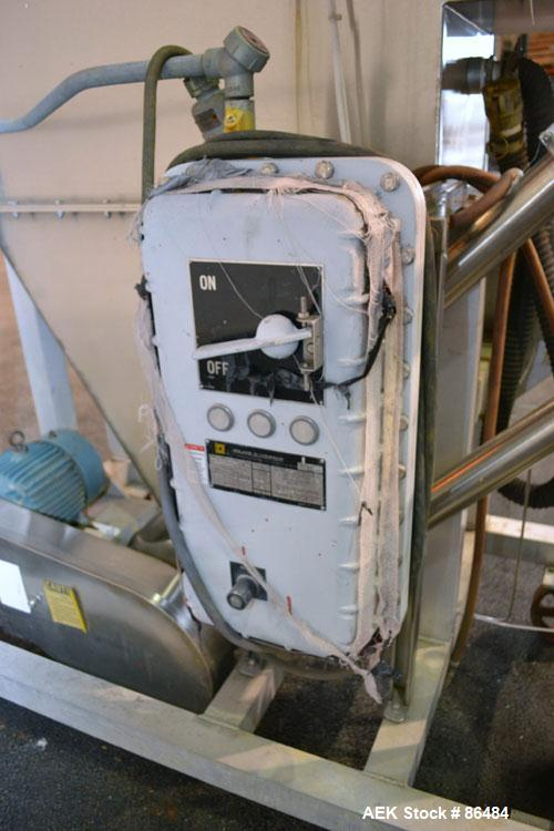 Used- Spiroflow Systems Mobile Bag Dump/Loading System, Model Z0806, 304 Stainless Steel, Consisting Of: (1) bag dump statio...