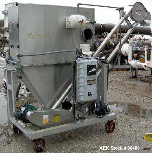 Used- Spiroflow Systems Mobile Bag Dump/Loading System, Model Z0807, 304 Stainless Steel, Consisting Of: (1) bag dump statio...