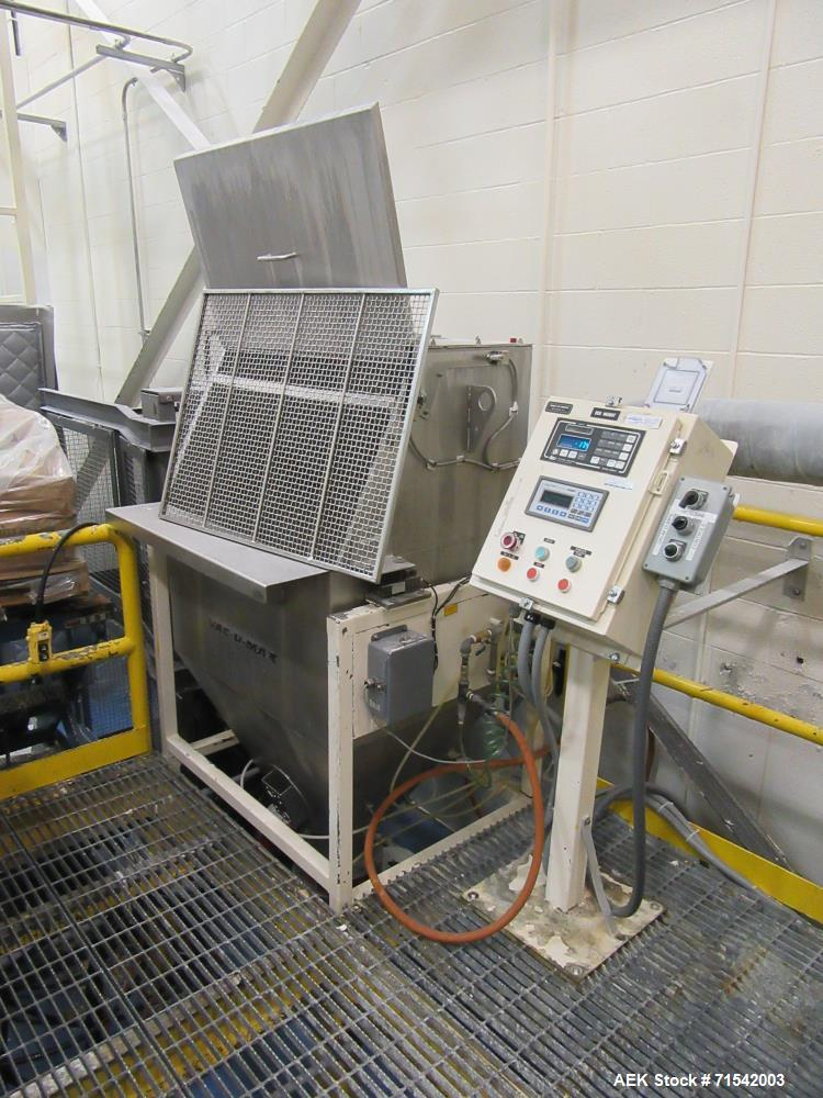 Used-Vacu-Max Bag Break (blending) Station, Model unknown, 150 cu/ft capacity with AER valve, complete cleanout.