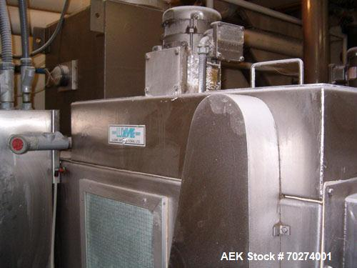 "Used- Luxme bulk bag slitter. An Automatic Twin Blade Bag Slitting Machine, with infeed conveyor, approx 36"" long x 36"" wide..."