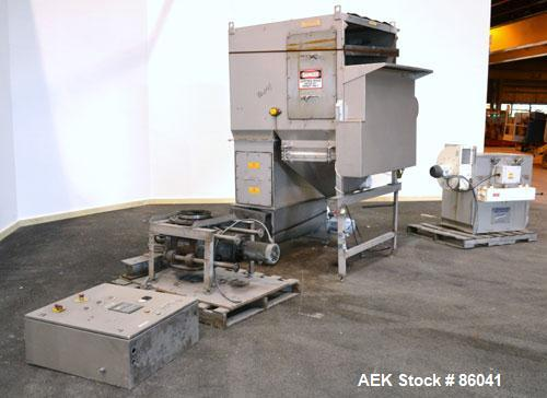 Used- Stainless Steel Palamatic Semi-Automatic Bag Opener, Model SAS2000
