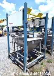 Used- Flexicon BFH-C-X Half Frame Bulk Bag Discharger Frame. Includes (2) air operated bag holders, (1) Tele-Tube telescopin...