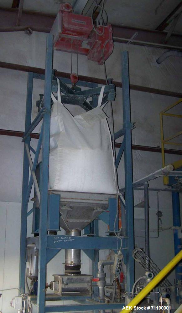 Used- Metal Fab Bulk Bag Unloader with stainless contact parts